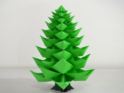 Origami: Christmas Tree 2.0 - Instructions in English (BR)