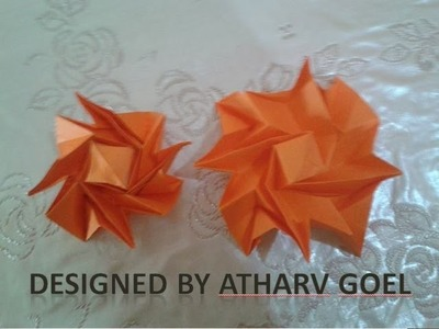 Origami Curved Ear-Table Looking Flasher Tutorial (Atharv Goel) remake
