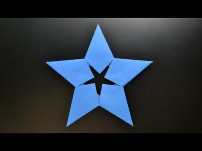 Origami: Modular 5 pointed star. Money Star - Instructions in English ( BR )