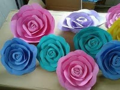 Origami napkin flower fiore rose