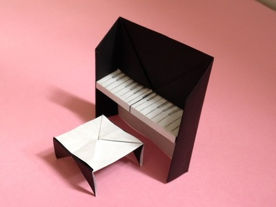 Origami Piano Chair For Dollhouse Instructions