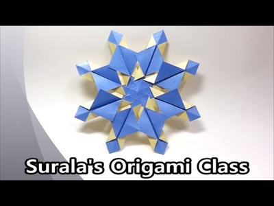Origami - Snowflake (simple & easy). 종이접기 -  눈꽃 (눈송이)