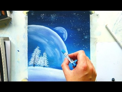 Painting a fantasy winter scene with soft pastels | Leontine van vliet
