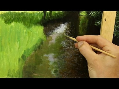PAINTING A RIVER IN OIL!