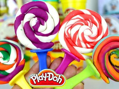 Plastilina Play Doh Swirl Lollipops| Paletas de Play Doh en Español