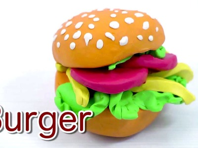 Play Doh Burger Easy Clay Modelling|Simple & Easy Play Doh Hamburger Making|Play Dough Food Easy