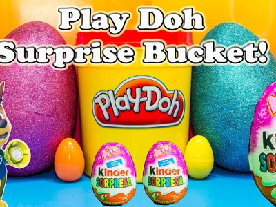 PLAY DOH SURPRISE BUCKET Giant Surprise Eggs  Surprise Bucket Surprise Toys Video
