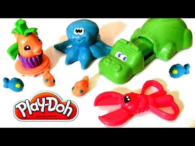 Play Doh Undersea Creations Hungry Hungry Hippo Eats Nemo Octopus Ocean Animals Disney Finding Nemo