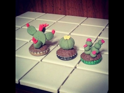 Polymer Clay Cactus Plants