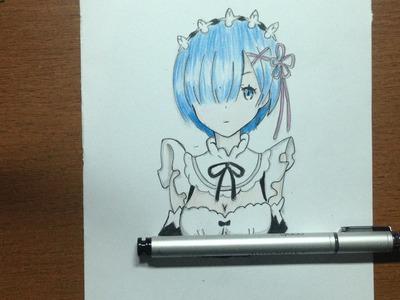 Speed  Drawing - Rem (Re: Zero Kara Hajimeru Isekai Seikatsu)