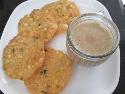 Thattai snack  - Pappu Chekkalu - Nippattu -tea time snack recipe