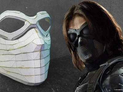 The Winter Soldier Mask Cardboard (Part 1)