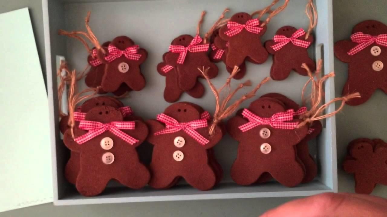Tilda Gingerbread Men Cinnamon Cookie Ornament