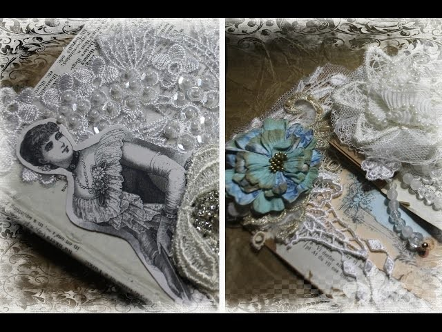 Tresors de Luxe Vintage Style Altered Bags, Book Box and Tussie Mussie