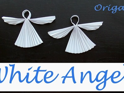 White Angel - Christmas Origami: Paper Angel 3d