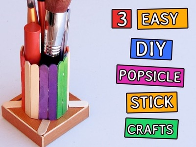 3 Popsicle stick Crafts you can make | DIY Projects