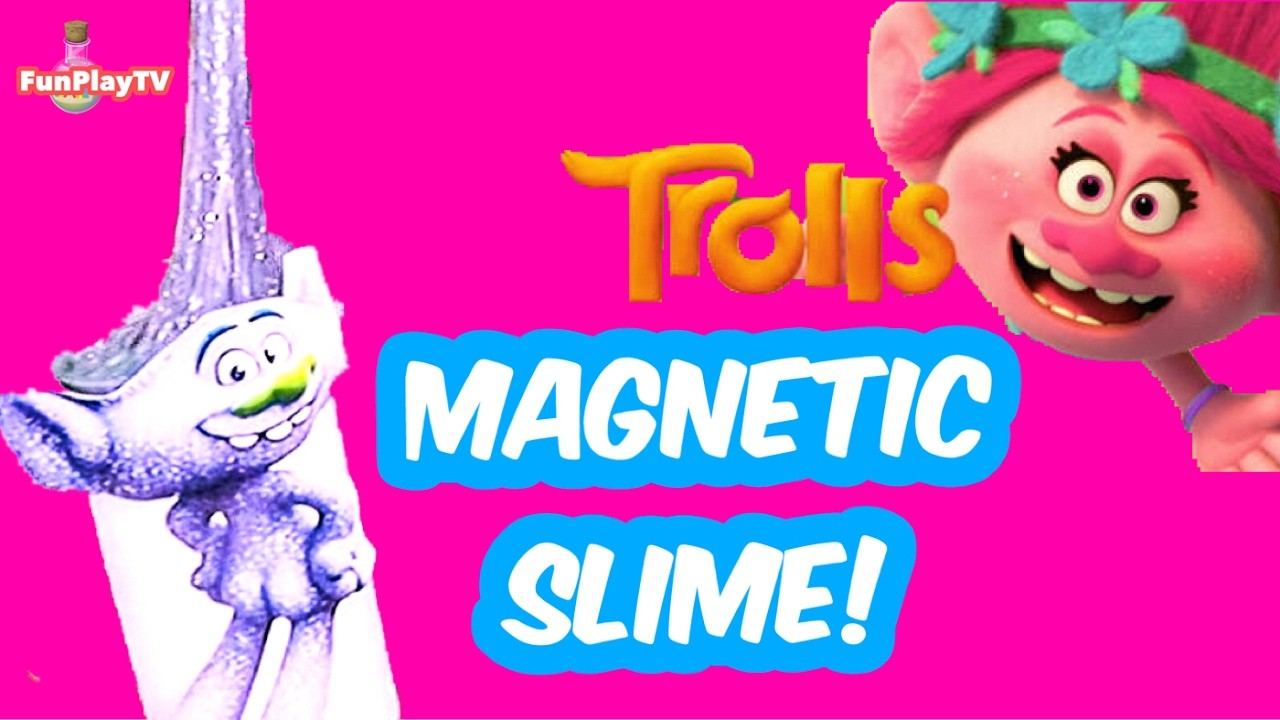 ???????????????? Amazing Magnetic Slime Trolls Kids DIY | How to make magnetic slime | Science experiment