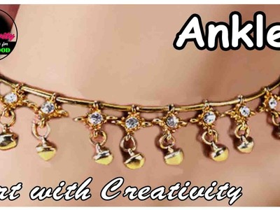 Anklet | 3-step | Easy DIY | Art with Creativity 157