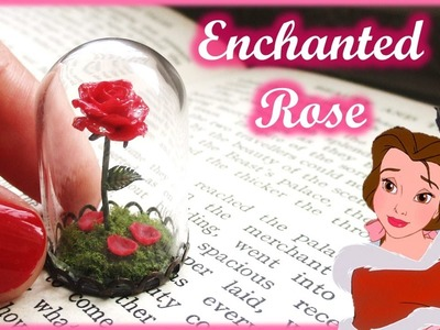 """Beauty & The Beast"" Miniature Enchanted Rose Terrarium, Polymer Clay Tutorial 