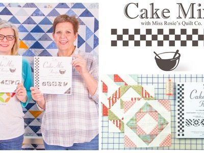 Cake Mix Recipes: Triangle Paper for Layer Cakes by Miss Rosie of Moda Fabrics