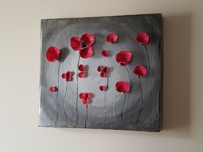 Cuadro de carton y conchas DIY Wall art made of cardboard and shells
