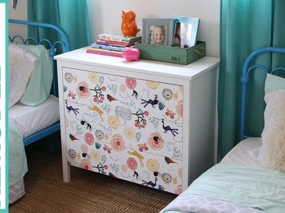 DIY | 15 Minute Ikea Dresser Hack | How to Makeover your Dresser using Wallpaper
