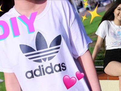 DIY Adidas shirt ! Tumblr Aesthetic Holographic adidas!