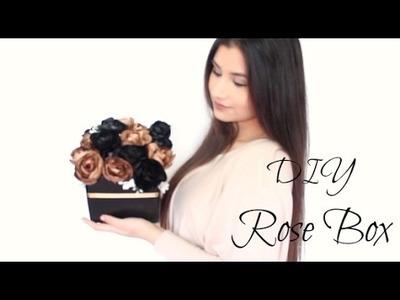 DIY: Black & Gold Rose Box