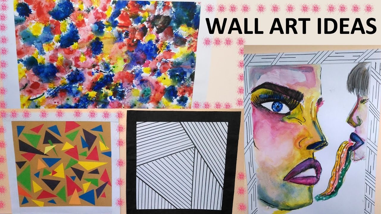 DIY: Creative Wall Art Ideas || 4 Easy To Do Wall Art Ideas