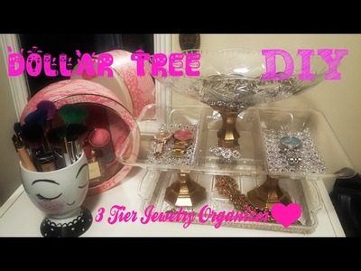 DIY DOLLAR TREE GLAM 3 TIER Jewelry Organizer Stand