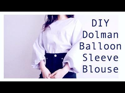 DIY Dolman. Balloon Sleeve Blouseㅣmadebyaya