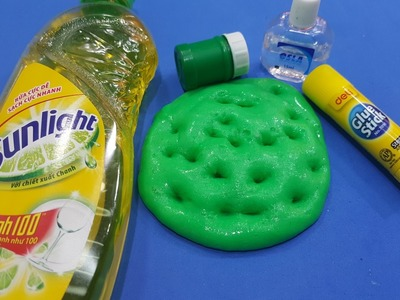 DiY dry lake slime ! How To Make slime with dry lake ,dishwater ,eye drops solution