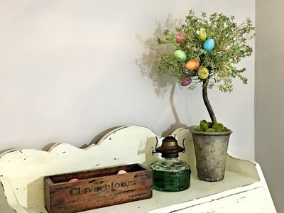DIY Easter Egg Topiary - Easter Decorating Idea - Spring Decor