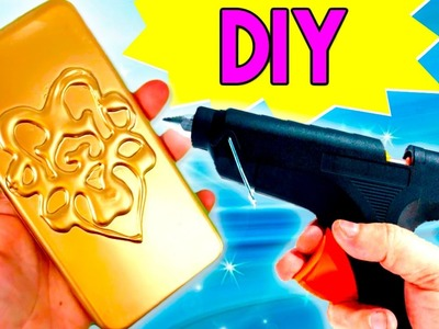 DIY HOT GLUE Phone Case * Funda de Móvil CASERA con Silicona  ✅  Top Tips & Tricks in 1 minute