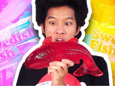 DIY HOW TO MAKE GIANT SWEDISH FISH!!!