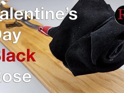DIY - Making A Valentine's Day Black Rose