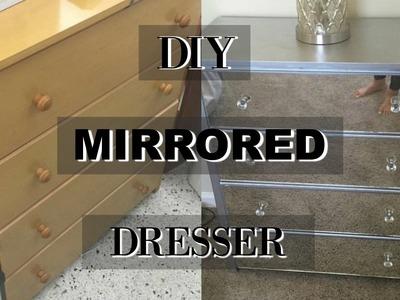 DIY MIRRORED DRESSER | FT. DIY FLOWER BED CANVAS