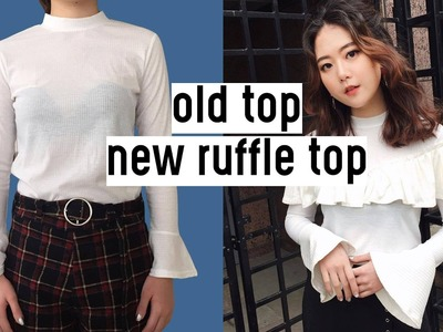 ✂️DIY Old Top to New Ruffle Top | Qformation EP.5