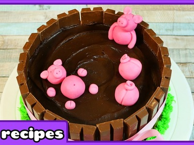 DIY Pigs in Mud Cake Decoration Technique | Easy Birthday Chocolate Cake by HooplaKidz Recipes