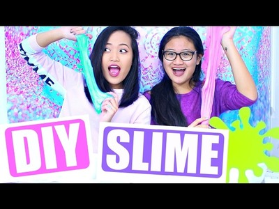 DIY SLIME WITH MY LITTLE SISTER!!!