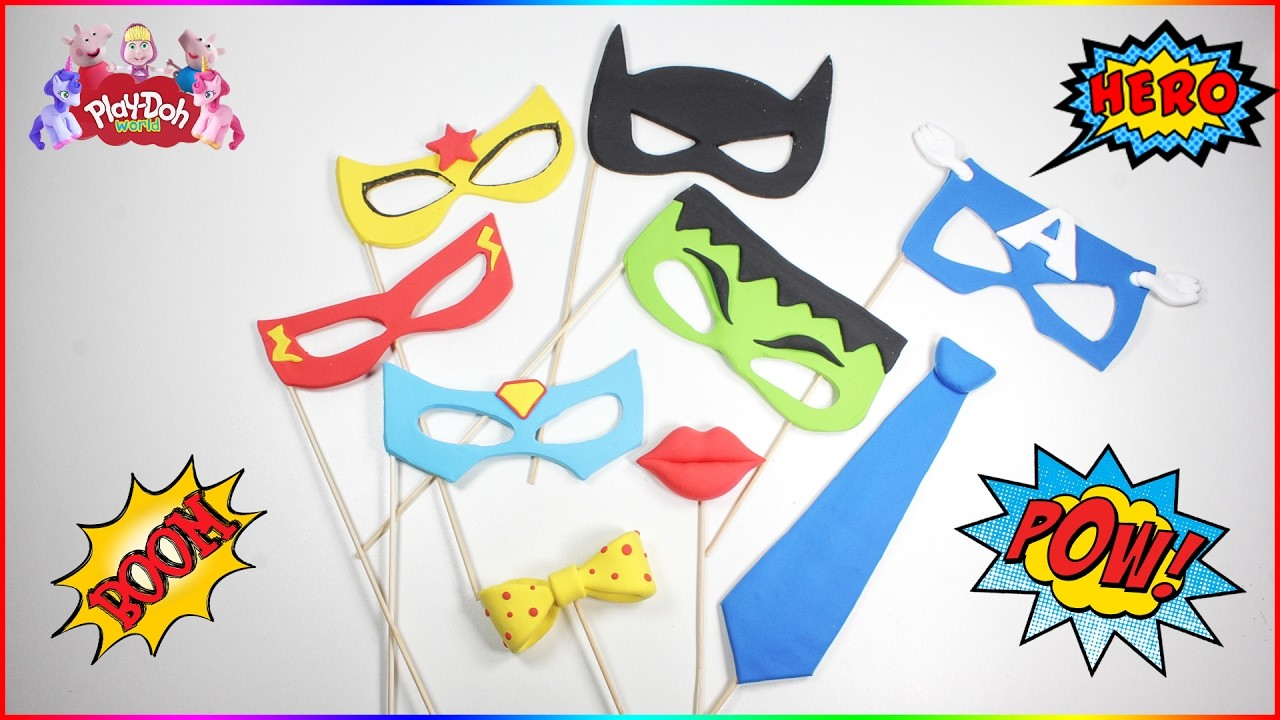 DIY Superhero MASK PHOTO BOOTH PROPS | How To Make DC Superhero Girls