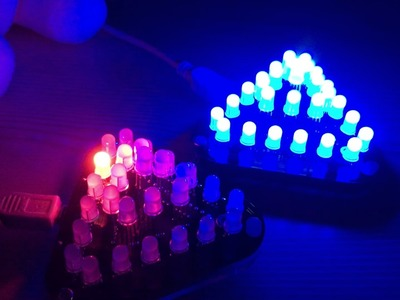 DIY Touch Control RGB Full Color 5MM LED Triangular Pyramid Kit