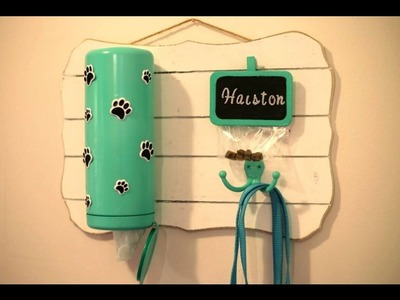 Dog leash station - Pet DIY