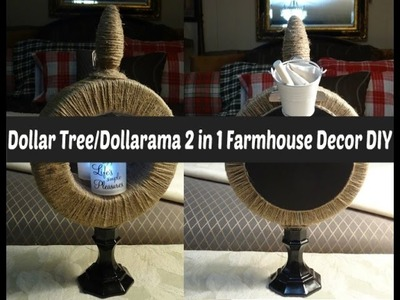 Dollar Tree.Dollarama  2 in 1 Farmhouse Decor DIY