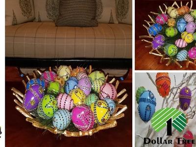 """Dollar Tree """"Pier 1 Inspired Easter Eggs DIY"""" Bling Bling"""