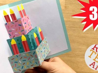 Easy Cake Card - Birthday Card Design - Weddings - Celebrations - DIY Card Making Ideas