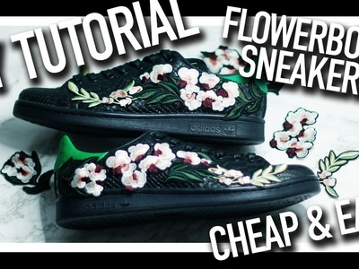 Easy & Cheap D.I.Y Customised Floral Embroidery Sneakers   Adidas Stan Smith, Yeezy Boost   NICHXAV