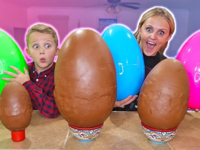 Giant Chocolate Kinder Surprise Egg How To DIY!!