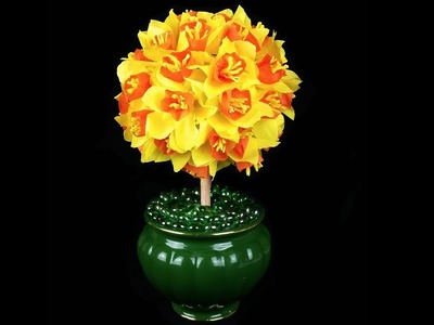 Gorgeous Daffodil Topiary tree .  Simple and Cheap to make .  D.I.Y.