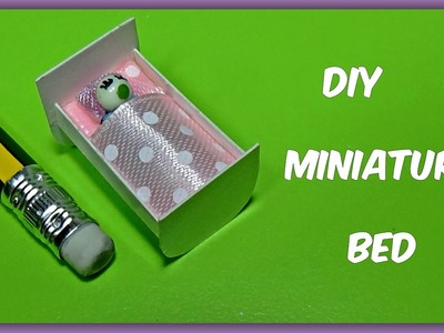 How to make a bed for baby Doll Stuff miniature bed diy